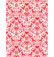 retro cross stitch seamless folk pattern vector image vector image