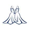 Same sex marriage legal vector image vector image