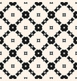 seamless monochrome geometric ornament pattern vector image vector image