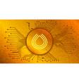 serum srm cryptocurrency token symbol defi vector image vector image