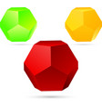 set dodecahedron vector image vector image