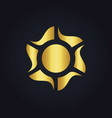 solar sun color energy gold logo vector image vector image