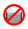 stop border prohibited fence red prohibition sign vector image