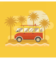 Surfing Bus Poster vector image