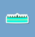 sweet dessert in paper sticker cream cake vector image