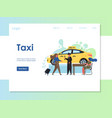 taxi website landing page design template vector image vector image