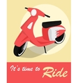 vintage card scooter in retro style vector image