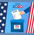 voting concept in flat style vector image vector image