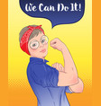 we can do it design inspired classic vintage vector image vector image