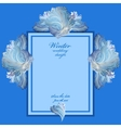 Wedding vertical frame with winter frozen glass vector image