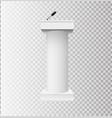 white podium tribune rostrum stands with vector image
