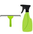 Window squeege and spray bottle vector image vector image