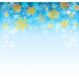 winter light blue background vector image vector image