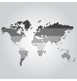 world map with dots different sizes vector image