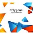 Premium low poly geometric banner design concept vector image