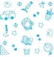 school equipment doodle art vector image