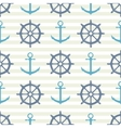 Seamless pattern with steering wheel and anchor on vector image