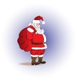 Santa Claus with a bag of gifts Merry Christmas vector image