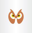 owl head icon design vector image