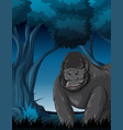 a gorilla in forest vector image vector image