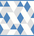 abstract blue triangles pattern design seamless vector image vector image