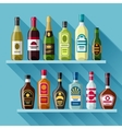 Alcohol drinks background design Bottles for vector image vector image