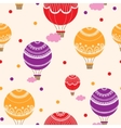 Background with hot air balloons vector image