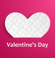 Background with white hearts vector image vector image