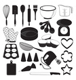 Baking Tool Icons Set vector image vector image