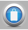 blue metal button with suitcase vector image