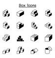 box icons graphic design vector image