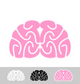 Brain Flat brain icon Human brain Main organ of vector image