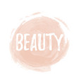 brush painted makeup background vector image vector image