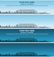 cape town skyline event banner vector image vector image