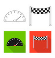 car and rally symbol vector image vector image