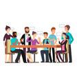 cartoon character business team have conversation vector image vector image