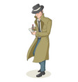 cartoon of a detective vector image