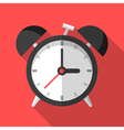 Colorful alarm clock icon in modern flat style vector image vector image