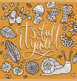 cozy fall autumn vector image vector image