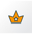 crown icon colored line symbol premium quality vector image