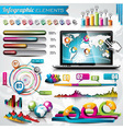 design set infographic elements and laptop vector image vector image