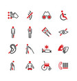 disabled icons vector image vector image