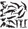 diving man silhouettes vector image