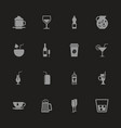 drink - flat icons vector image vector image