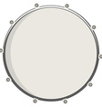 Drum top view vector image