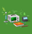 electronics class isolated on green vector image