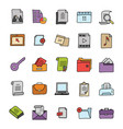 files doodle icons pack vector image vector image