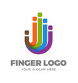 finger logo design vector image