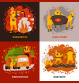 fire fighting design concept vector image