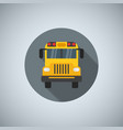 flat color school bus icon for printing web and vector image